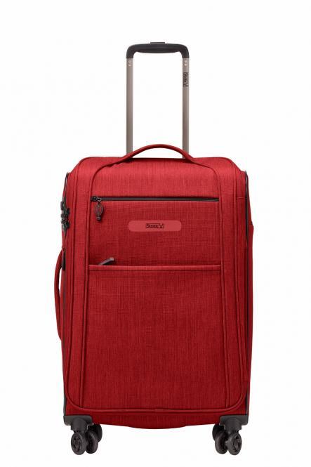 Trolley M 4R 65cm erweiterbar Red