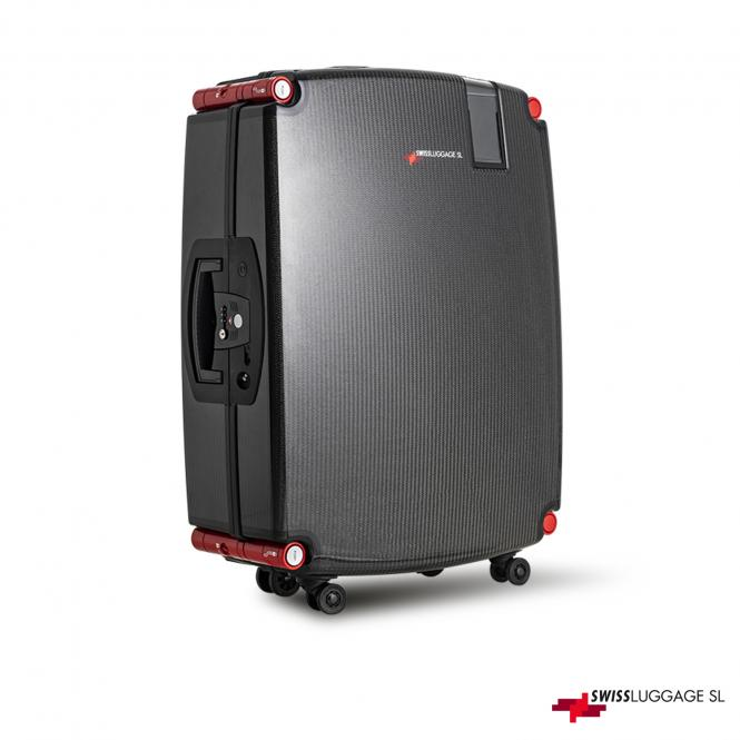 Suitcase 77cm 4R Black/Red