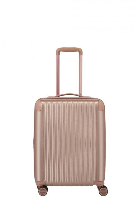 4-Rollen-Trolley S 55cm, erweiterbar Rose Metallic