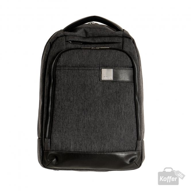 "Backpack slim mit Laptopfach 15.6"" mixed grey"