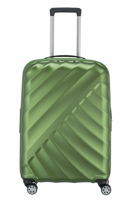 Trolley M 4R 66cm erweiterbar green