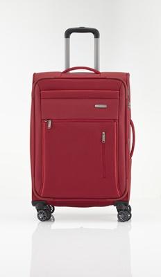 Trolley M 4R 66cm, erweiterbar rot