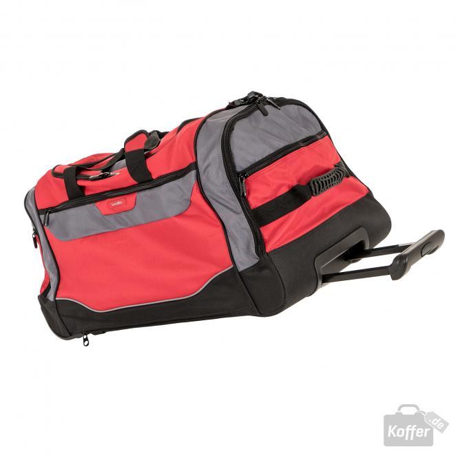 Trolley-Freizeittasche rot