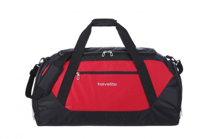 Freizeittasche XL rot-schwarz