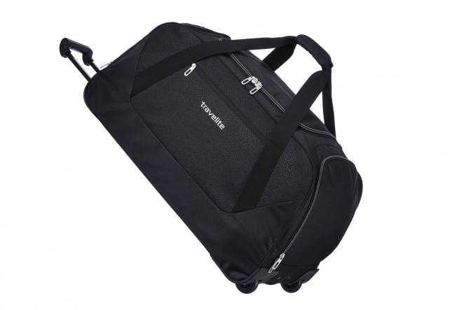 Trolley Freizeittasche XL 2 Rollen schwarz