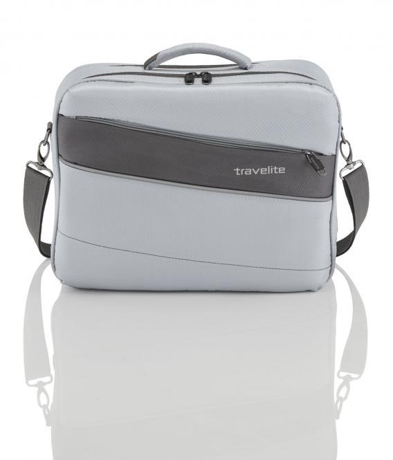 """Bordtasche mit Laptopfach 17"""" Silber"""