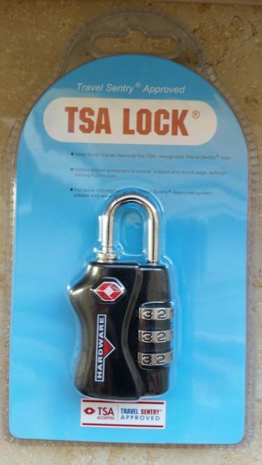 TSA-Vorhängeschloss, schwarz