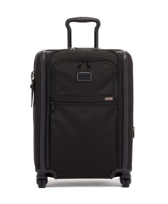 Kontinentales Handgepäck 4w (mit Doppel-Zugriff) aus Ballistic Nylon, erweiterbar black