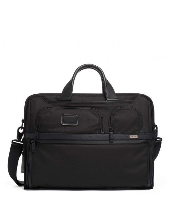 Kompakte Aktentasche für große Laptops, aus Ballistic Nylon black