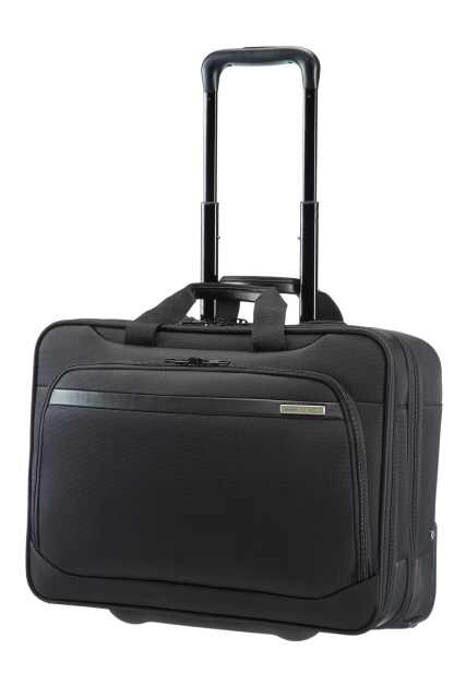 """Rolling Tote 17.3"""" Black"""