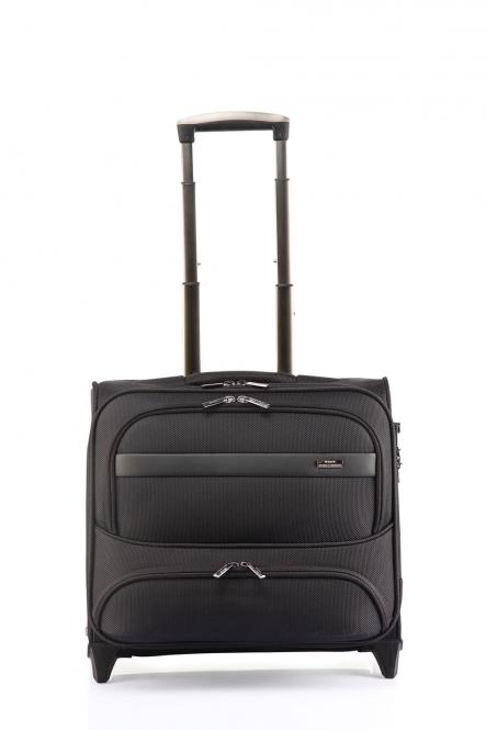 "Business-Trolley 2R mit Laptopfach 16"" Schwarz"