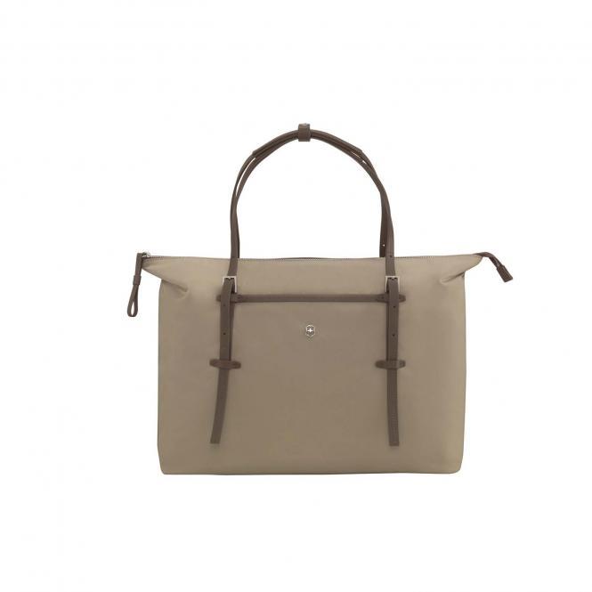 Charisma Carry-All Tote Damentragetasche mit 15,6 Zoll Laptopfach Silver Mink