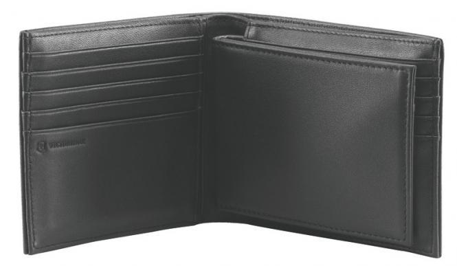 Amsterdam Portemonnaie aus Leder, Schwarz