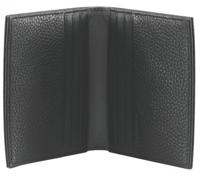 Antwerp Portemonnaie aus Leder, Schwarz