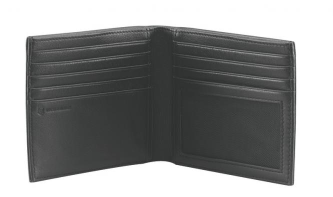 Barcelona Portemonnaie aus Leder, Schwarz