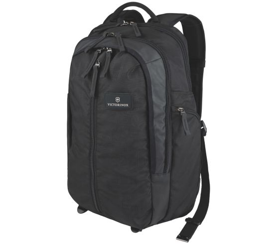 Vertical-Zip Laptop Backpack Schwarz