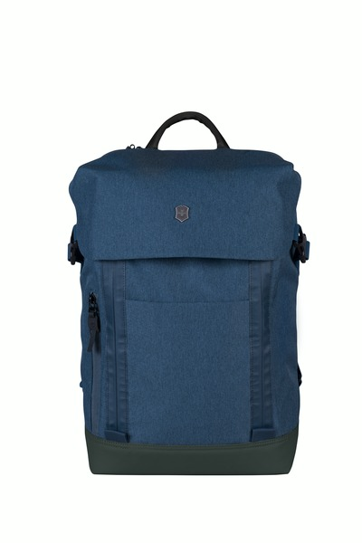 "Deluxe Flapover Laptop Backpack 15.4"" Blau"