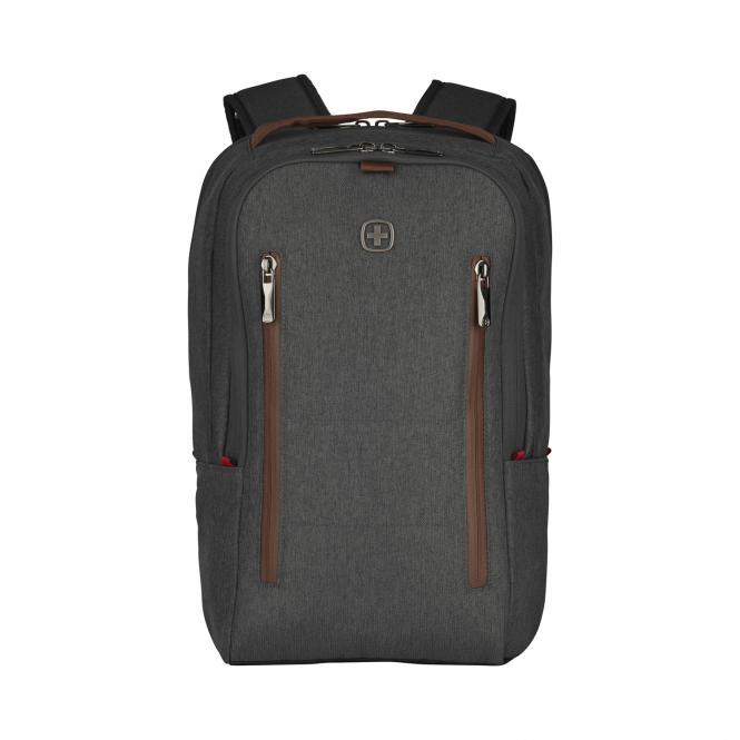 Laptop-Rucksack 16 Zoll mit Gürteltasche alloy