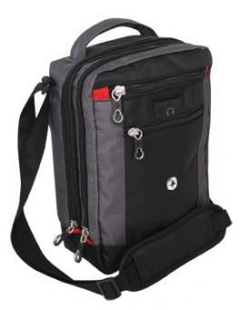 Bordgepäcktasche, Hochformat mit Tabletfach Schwarz