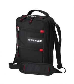 Mini-Bordgepäcktasche, Hochformat mit Tabletfach Schwarz