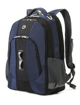 Rucksack mit Laptopfach 15 Zoll Blauschwarz