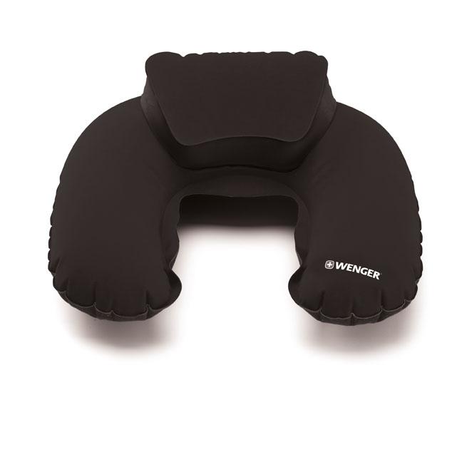 Nackenkissen De Luxe inklusive Hülle im Taschenformat Schwarz