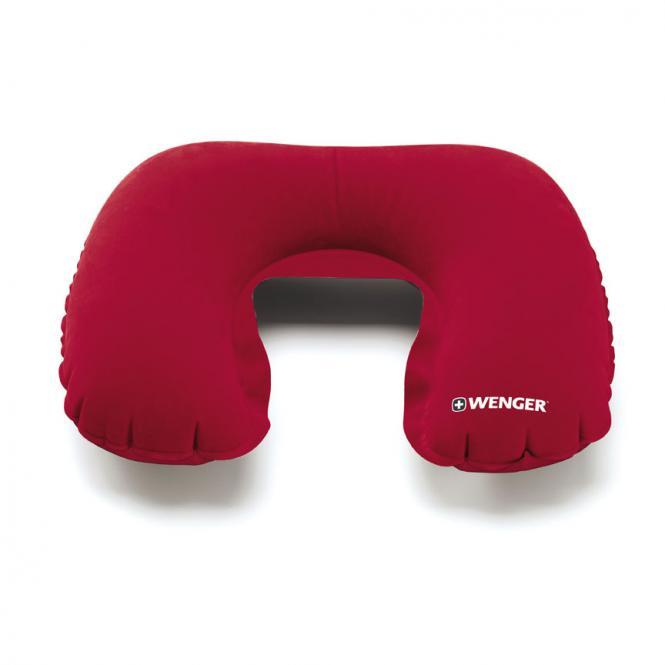 Nackenkissen inklusive Hülle im Taschenformat Rot