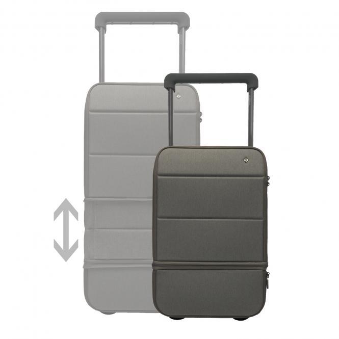 Carry on, erweiterbar, mit Powerbank und Fingerabdruck-Schloss Dark Grey - Graphite