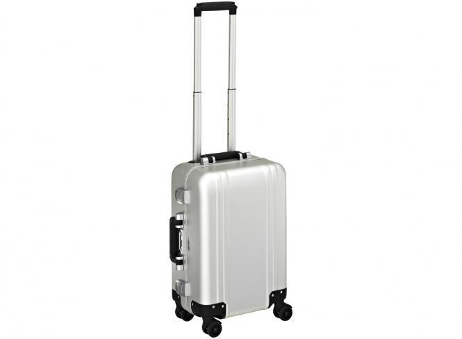Carry on 4 Wheel Spinner Travel Case Silver