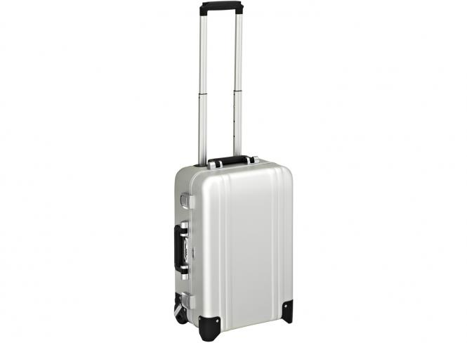 Carry on 2 Wheel Travel Case Silver