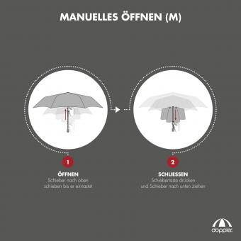 doppler Carbonsteel Mini Slim Royal Manuell Taschenschirm