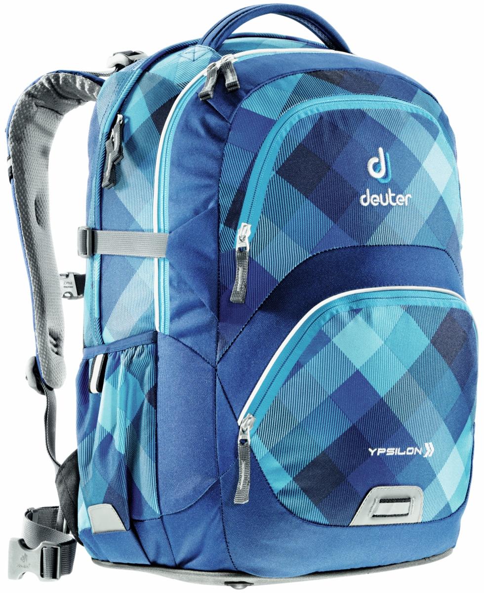 Deuter School Ypsilon Schulrucksack blue crosscheck 80223-3038
