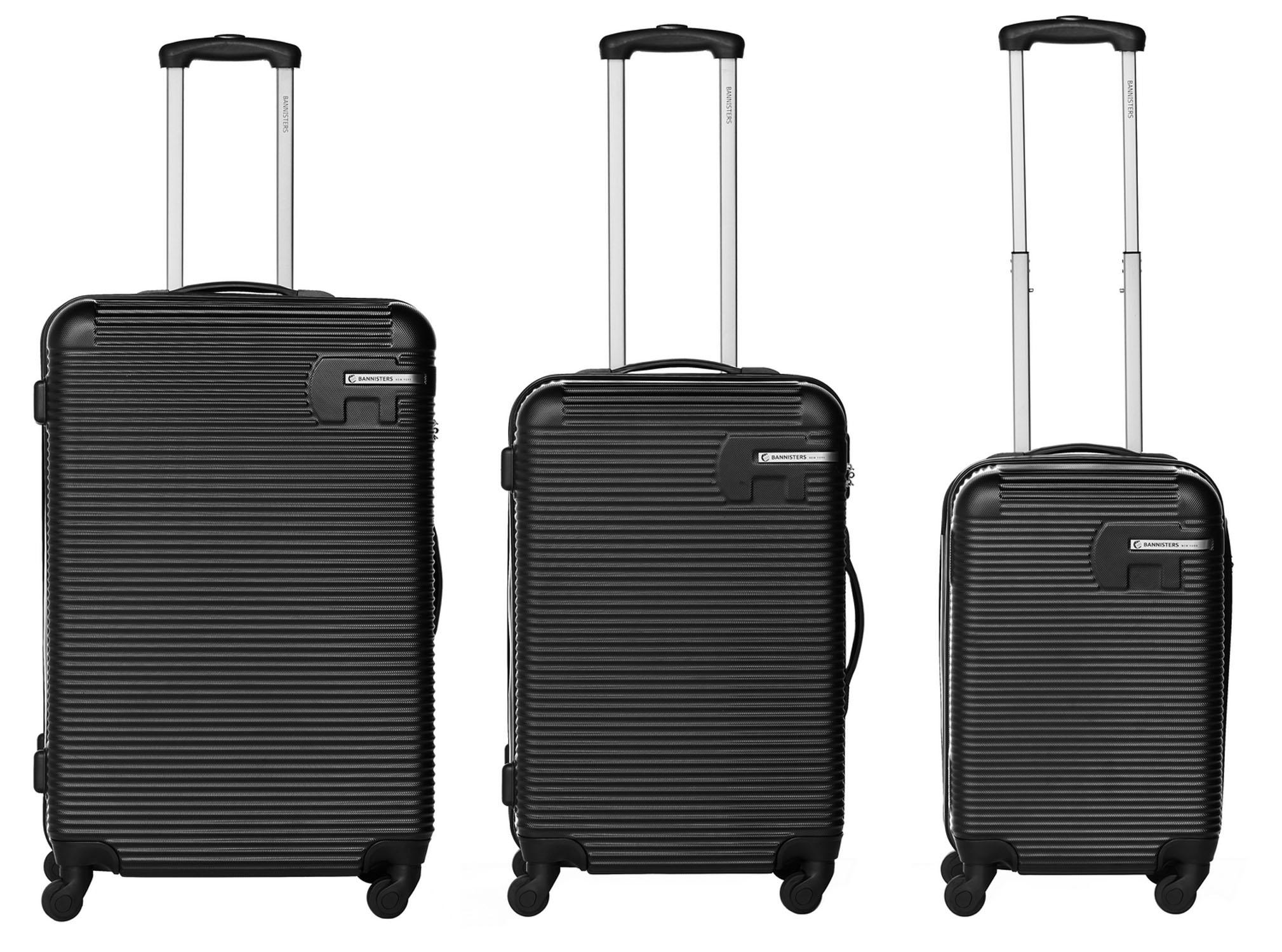 packenger hudson bannisters koffer 3er set schwarz jetzt auf kaufen. Black Bedroom Furniture Sets. Home Design Ideas