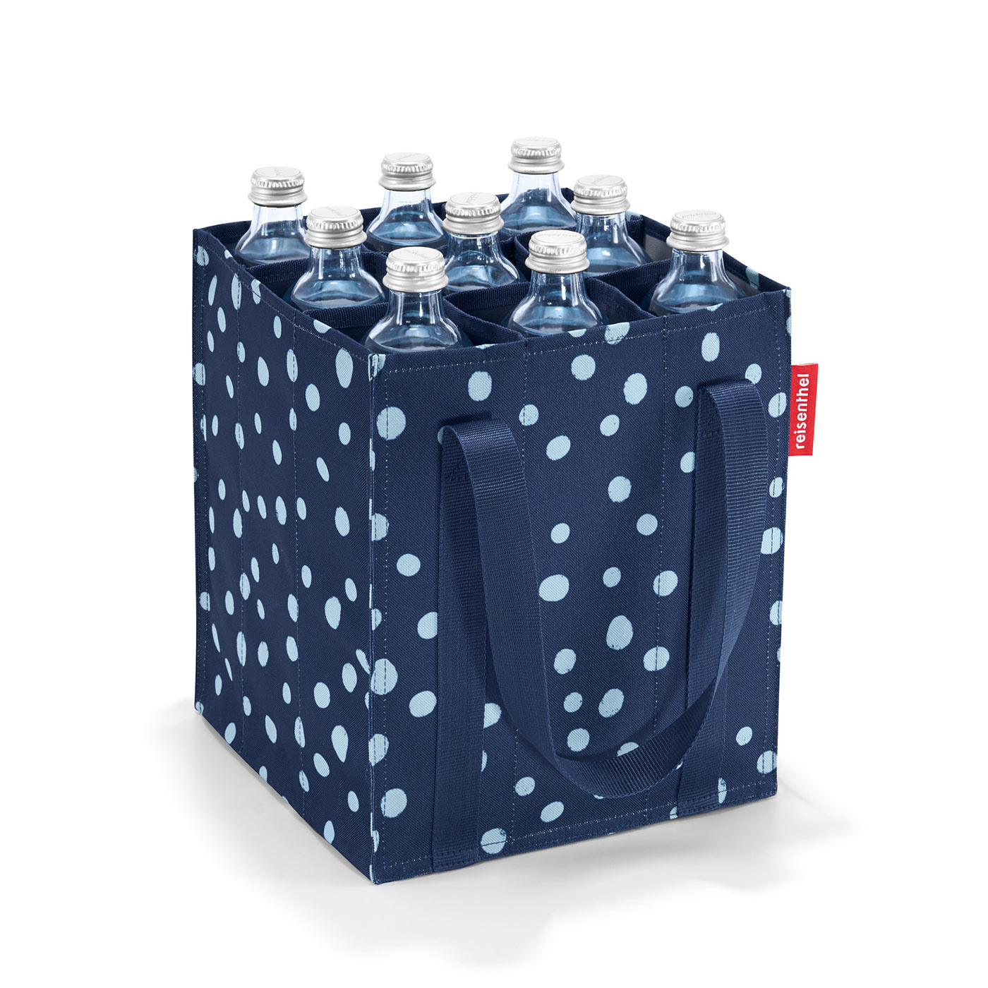 reisenthel shopping bottlebag spots navy jetzt auf kaufen. Black Bedroom Furniture Sets. Home Design Ideas