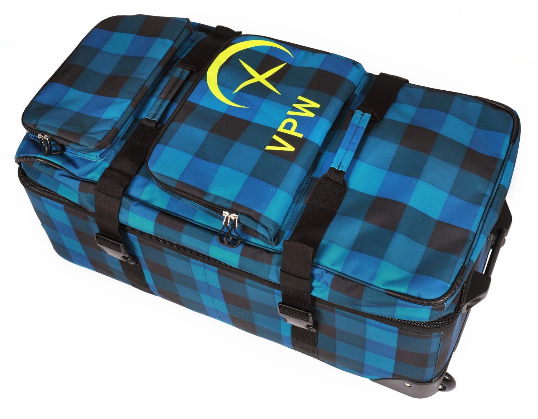 v lkl performance wear free wheel bag 120 l denim check. Black Bedroom Furniture Sets. Home Design Ideas