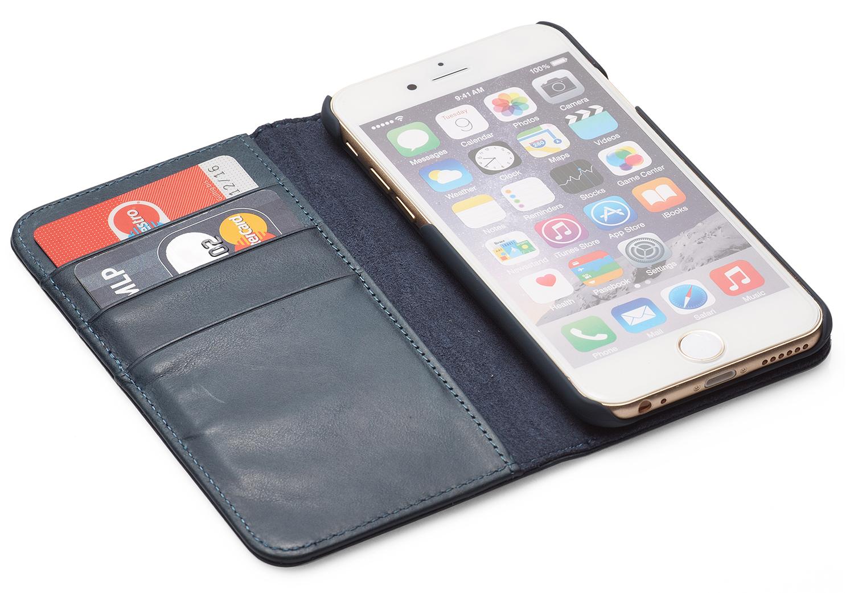 packenger klapph lle luxury f r iphone 6 6s blau jetzt. Black Bedroom Furniture Sets. Home Design Ideas