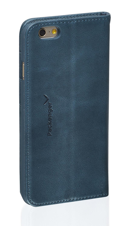 packenger klapph lle luxury f r iphone 6 6s plus blau. Black Bedroom Furniture Sets. Home Design Ideas