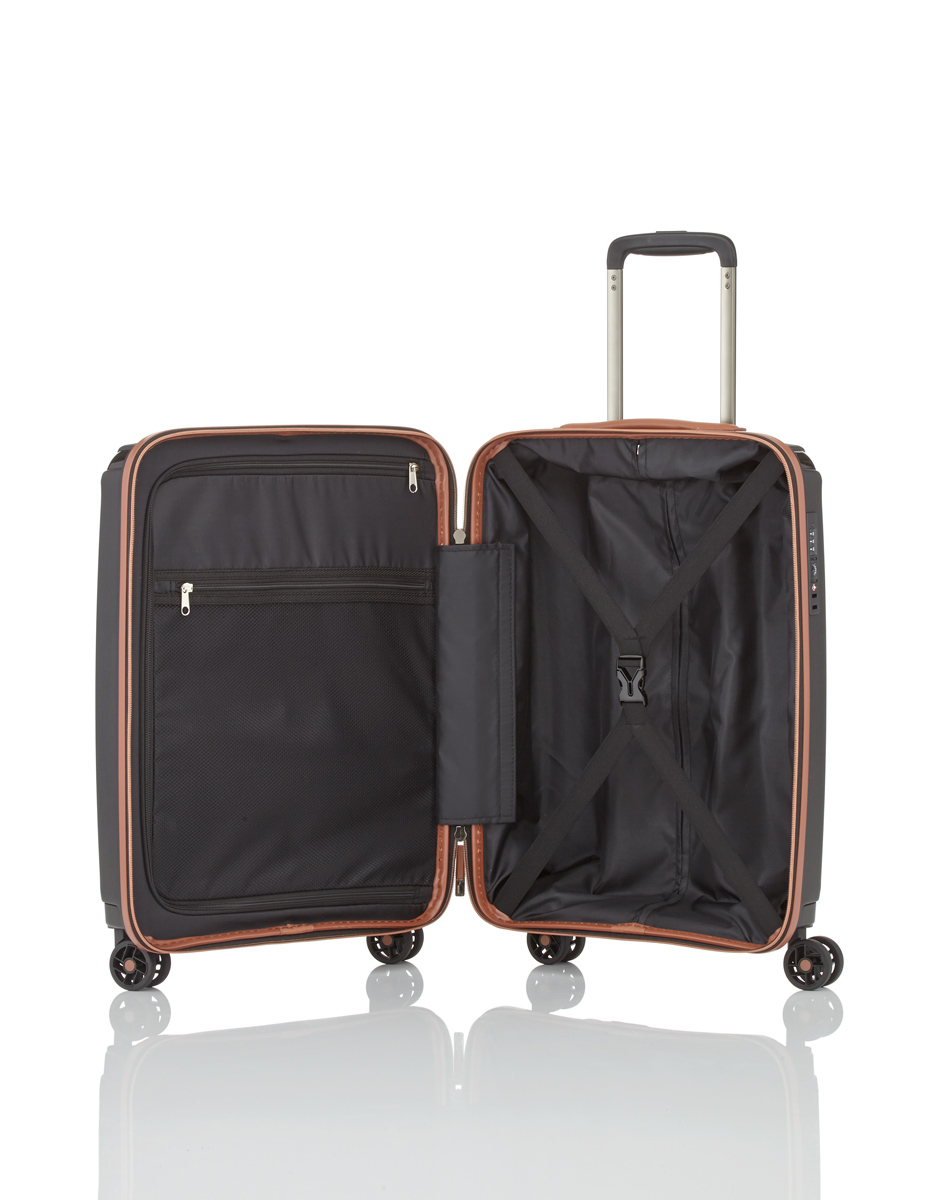 titan paradoxx trolley s 4r 55cm black jetzt auf koffer. Black Bedroom Furniture Sets. Home Design Ideas