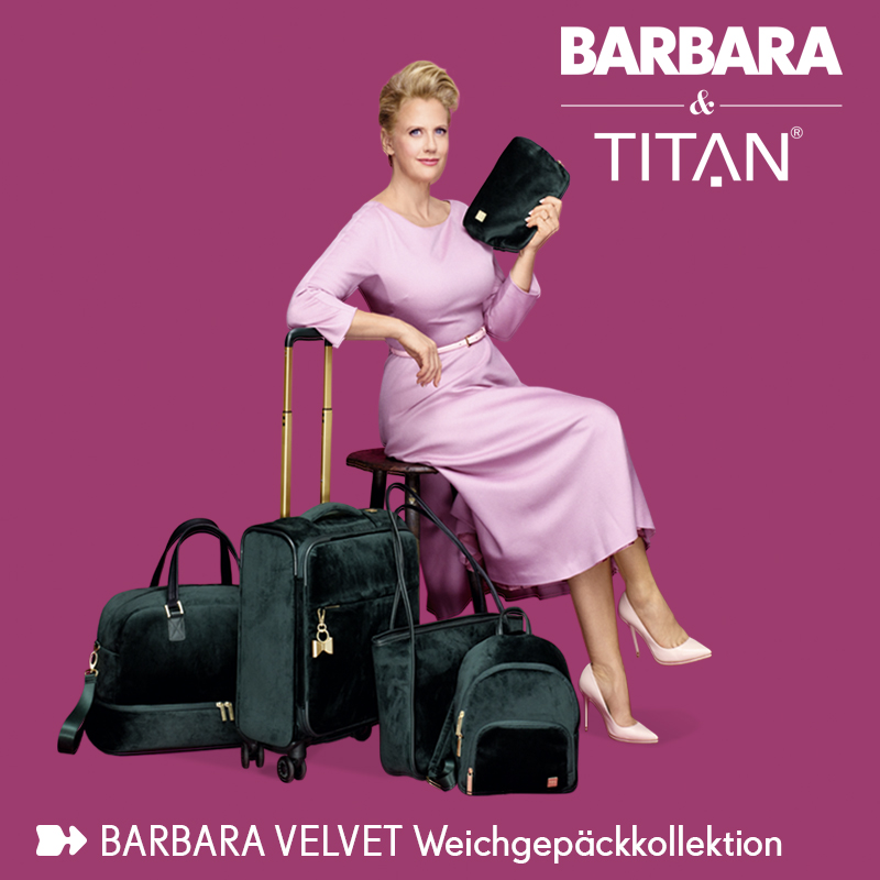 Die Titan Barbara Velvet Collection bei Koffer.de