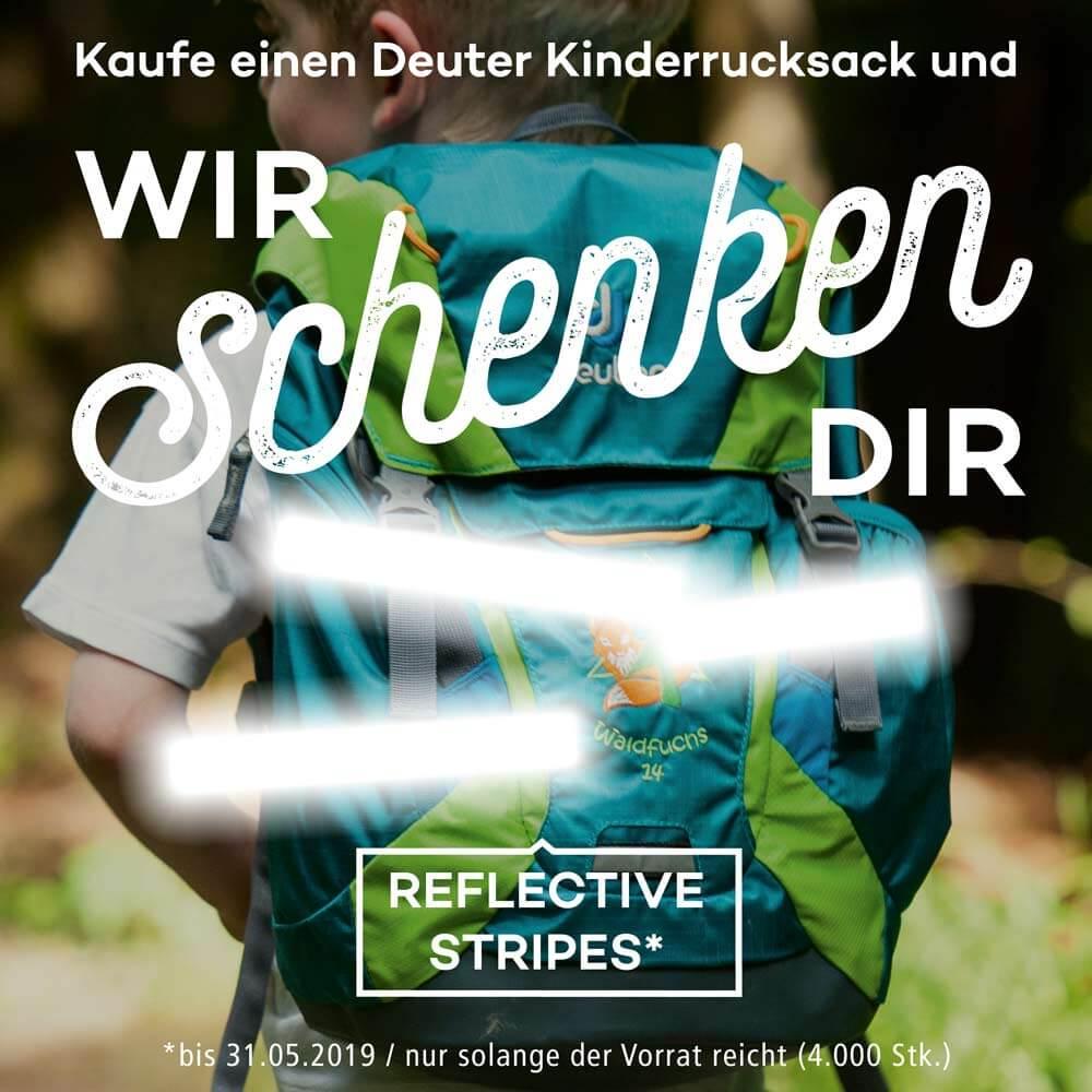 Gratis dazu beim Kauf eines Kinderrucksackes von Deuter - Reflective Stripes