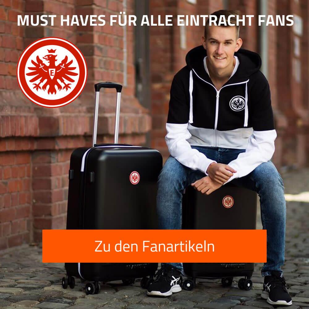 Fankoffer und Fanartikel der Eintracht Frankfurt